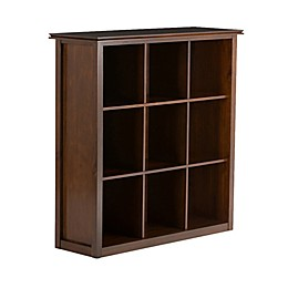 Simpli Home Artisan 9 Cube Bookcase in Brown