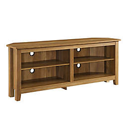 Forest Gate™ Thomas 58-Inch Corner TV Stand in Rustic Oak
