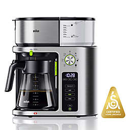 Braun 10-Cup MultiServe Coffee Maker in Stainless Steel/Black