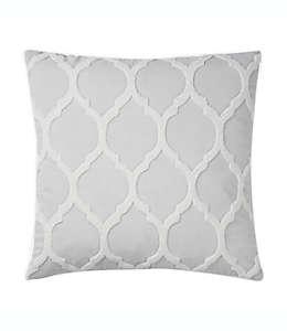Cojín decorativo de poliéster Wamsutta® con patrón enrejado color blanco coco