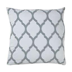 Wamsutta® Trellis Terry Loop Square Throw Pillow in Pearl Blue