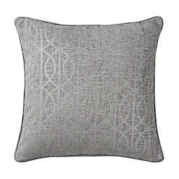 Wamsutta® Trellis Square Throw Pillow in Alloy