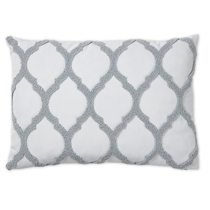 Alternate image 1 for Wamsutta® Trellis Terry Loop Oblong Throw Pillow