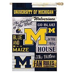 University of Michigan Fan Rules Linen House Flag