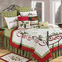 Holiday Garland King Christmas Quilt