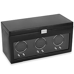 Wolf Designs® Heritage Triple Watch Winder with Storage