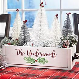 Family Personalized Christmas Wood Centerpiece Box