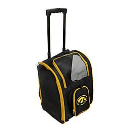 University of Iowa 2-Door Rolling Pet Carrier