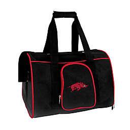 University of Arkansas 2-Door Premium Pet Carrier in Black