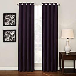 Ashton 108-Inch Grommet Top Room Darkening Window Curtain Panel in Plum