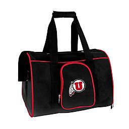 University of Utah 2-Door Premium Pet Carrier in Silver
