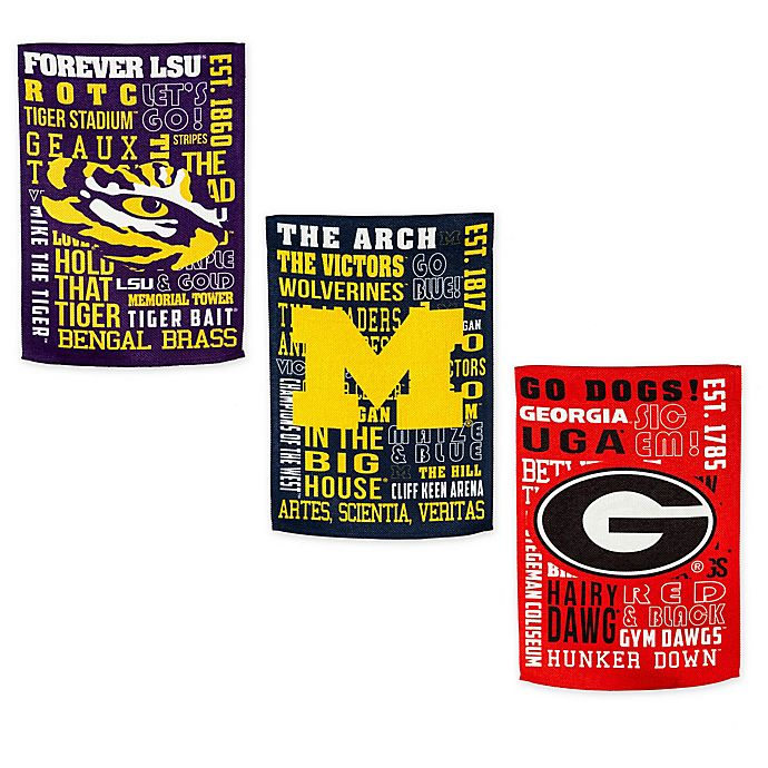 Alternate image 1 for Collegiate Fan Favorite Embossed House Flag Collection