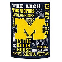 University of Michigan Fan Favorite Embossed House Flag