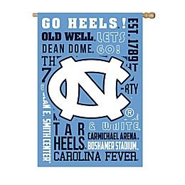 University of North Carolina Fan Favorite Embossed House Flag