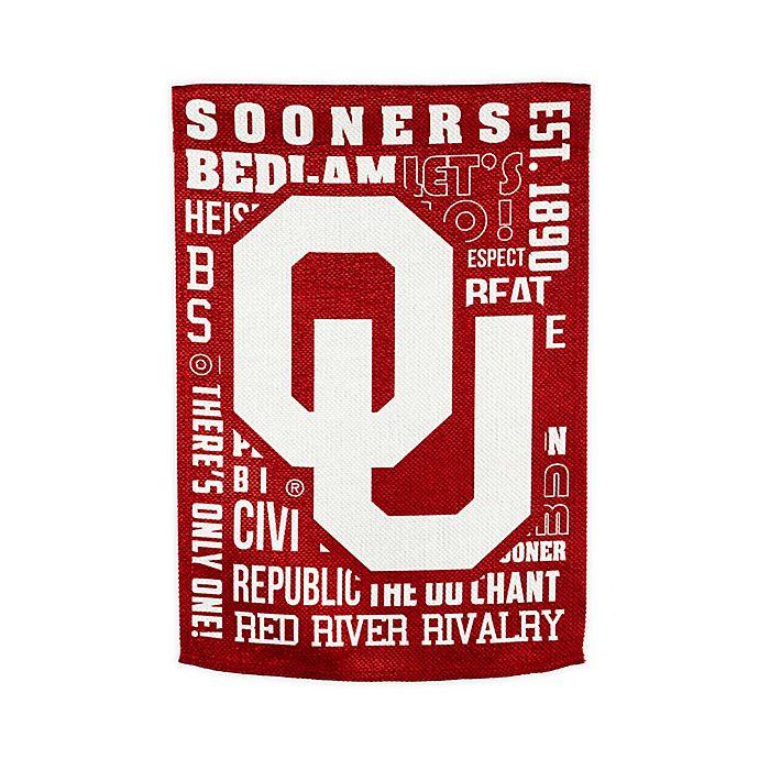 Alternate image 1 for University of Oklahoma Fan Favorite Embossed House Flag