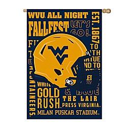 West Virginia University Fan Favorite Embossed House Flag