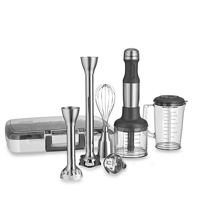 Alternate image 1 for KitchenAid® 5-Speed Stainless Steel Hand Blender