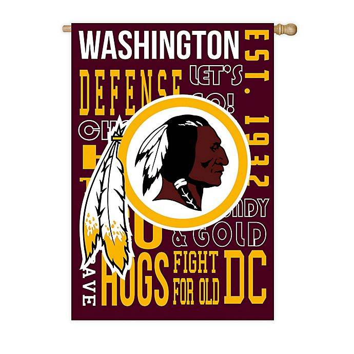 Alternate image 1 for NFL Washington Redskins Fan Favorite Embossed House Flag