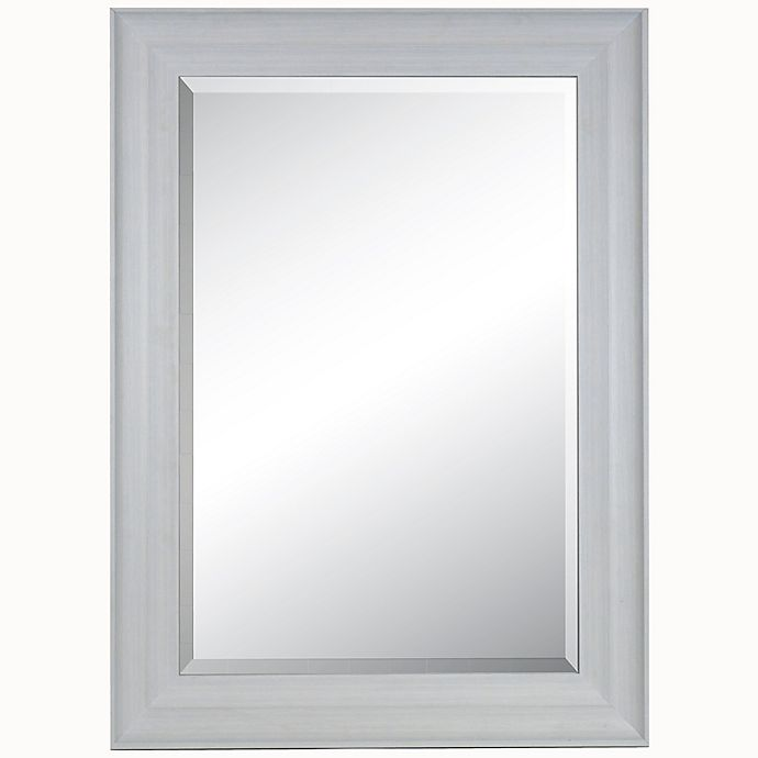 Alternate image 1 for 25.5-Inch x 39.5-Inch Rectangular Wall Mirror in Light Blue