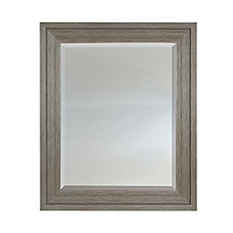 25.5-Inch x 39.5-Inch Rectangular Wall Mirror in Brown