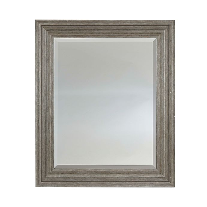 Alternate image 1 for 25.5-Inch x 39.5-Inch Rectangular Wall Mirror in Brown