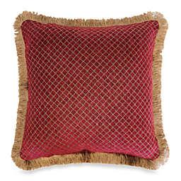 Austin Horn Classics Verona Chenille 18-Inch Square Pillow in Red