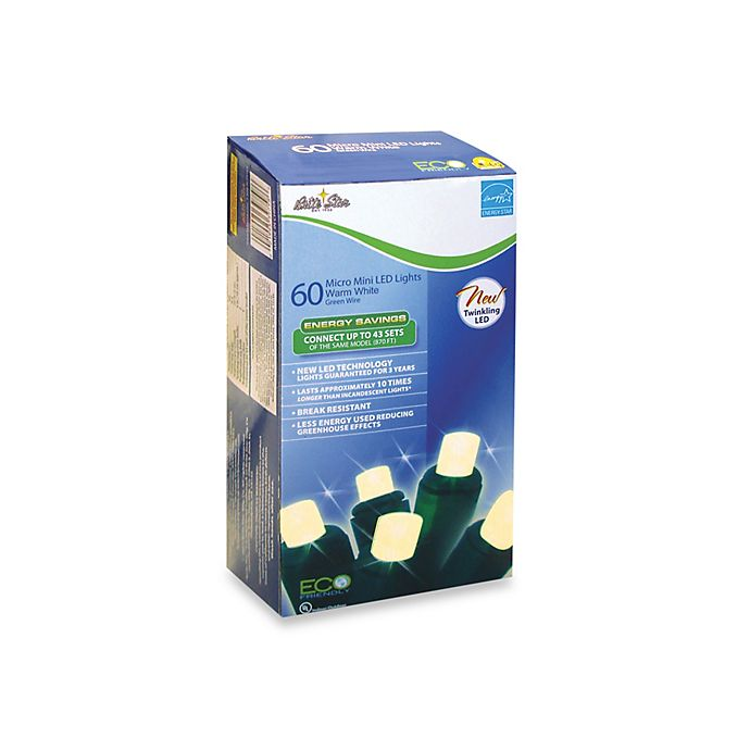 Alternate image 1 for Brite Star 60-Count LED Twinkling Lights in Warm White