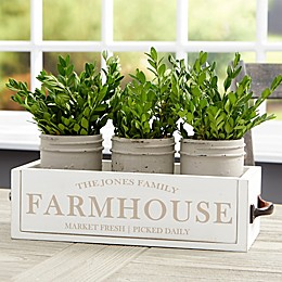 Family Farmhouse Personalized Wooden Box Centerpiece