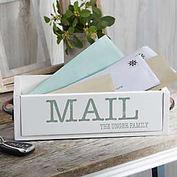 Rustic Expressions Personalized Wood Mail Holder Box