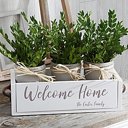 Rustic Home Expressions Personalized Decorative Wood Entry Table Box