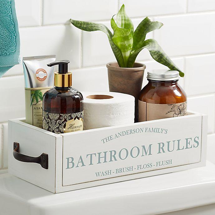 Alternate image 1 for Family Market Personalized Decorative Bathroom Wood Storage Box