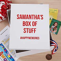 Expressions Personalized Keepsake Memory Box