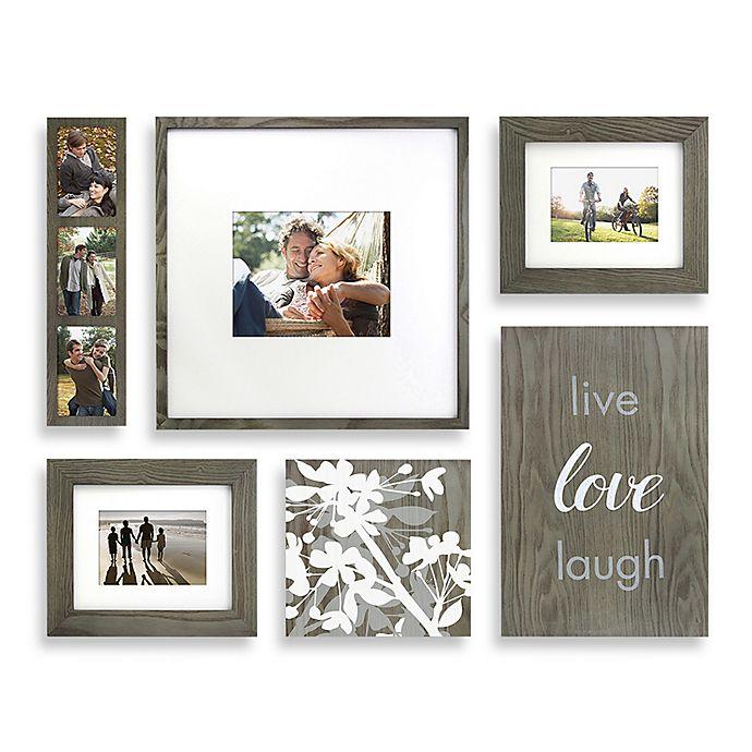 Wallverbs Organic Live Love Laugh Blossom 6 Piece Box Picture