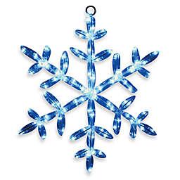 Brite Star 24-Inch LED Snowflake Tube Light in Blue