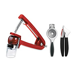 OXO Good Grips® Garlic Press/Olive and Cherry Pitter/Citrus Squeezer Collection