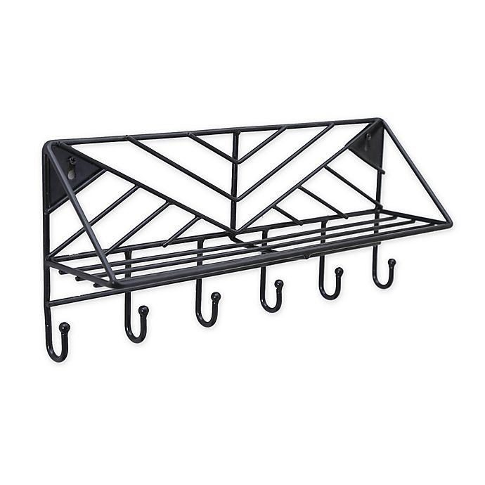 Alternate image 1 for SALT™ Geo Wire Wall Hook Rack & Shelf