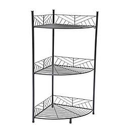SALT™ 3-Tier Geo Wire Corner Spa Tower