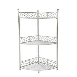 SALT™ 3-Tier Geo Wire Corner Spa Tower in Silver