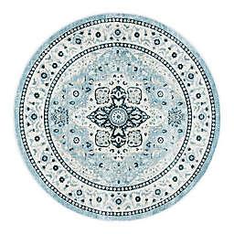 Safavieh Isabella Gabby 6'7 Round Area Rug in Light Blue