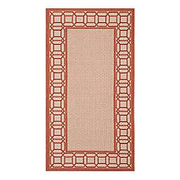 Safavieh Martha Stewart Facet Border 2'7 x 5' Area Rug in Red