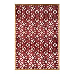 Martha Stewart Star Gradient 2'7 x 4' Accent Rug in Red