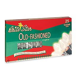 Brite Star 25-Count Old Fashioned Transparent Lights