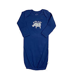 Finn by Finn + Emma® One Size Lazy Zoo Organic Cotton Gown in Navy