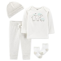 carter's® 4-Piece Elephant Layette Set in Ivory