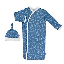 Magnetic Me by Magnificent Baby® Size 0-3M Sky Bunny Magnetic Gown and Hat Set in Blue