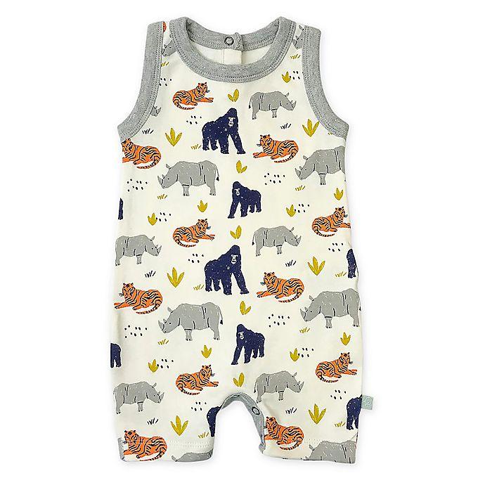 Alternate image 1 for Finn by Finn + Emma® Lazy Zoo Organic Cotton Romper