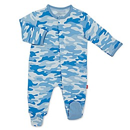 Magnetic Me® by Magnificent Baby Camo Chic Magnetic Footie in Blue