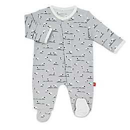 Magnetic Me® by Magnificent Baby Sheep's Meadow Magnetic Footie in Grey