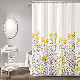 Lush Decor Aprile Shower Curtain in Yellow