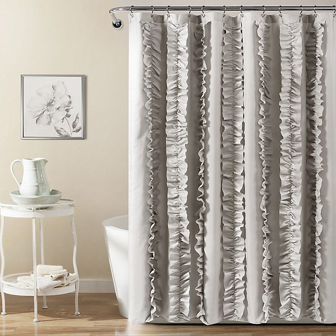 Lush Decor Belle Shower Curtain In Grey